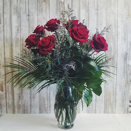 Half Dozen Roses - Premium