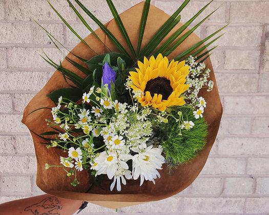 Custom Seasonal Wrapped Bouquet
