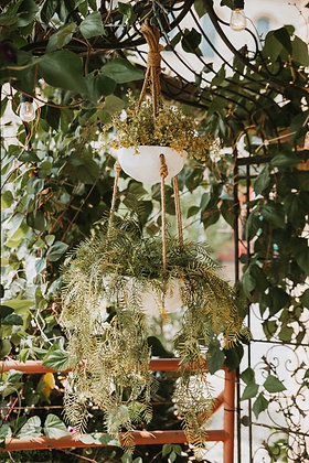 "Tiered Hanging Planters - 6"" + 10"""