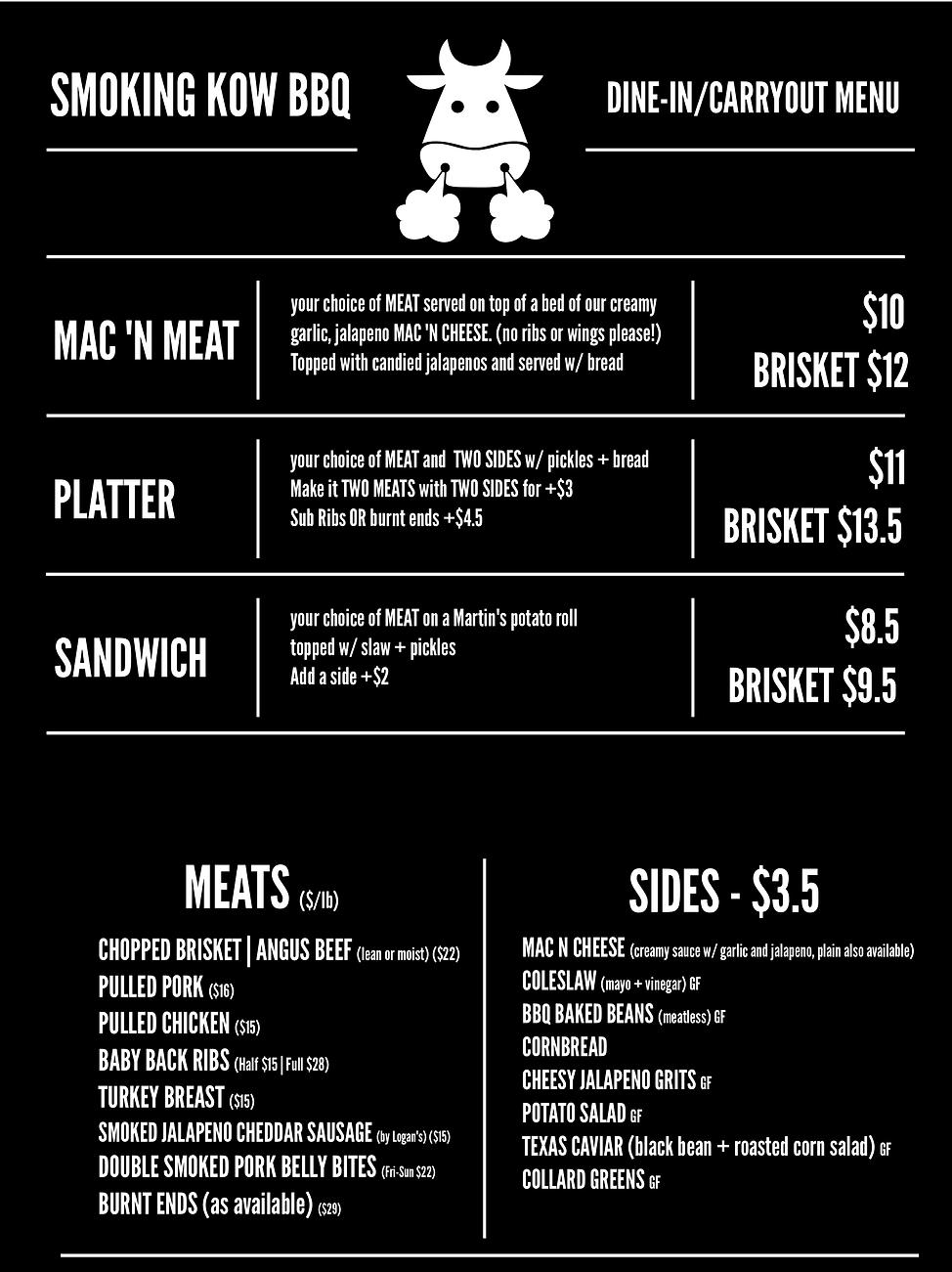 restaurant menu - LEFT 8-3-20 NEW SYCAMO