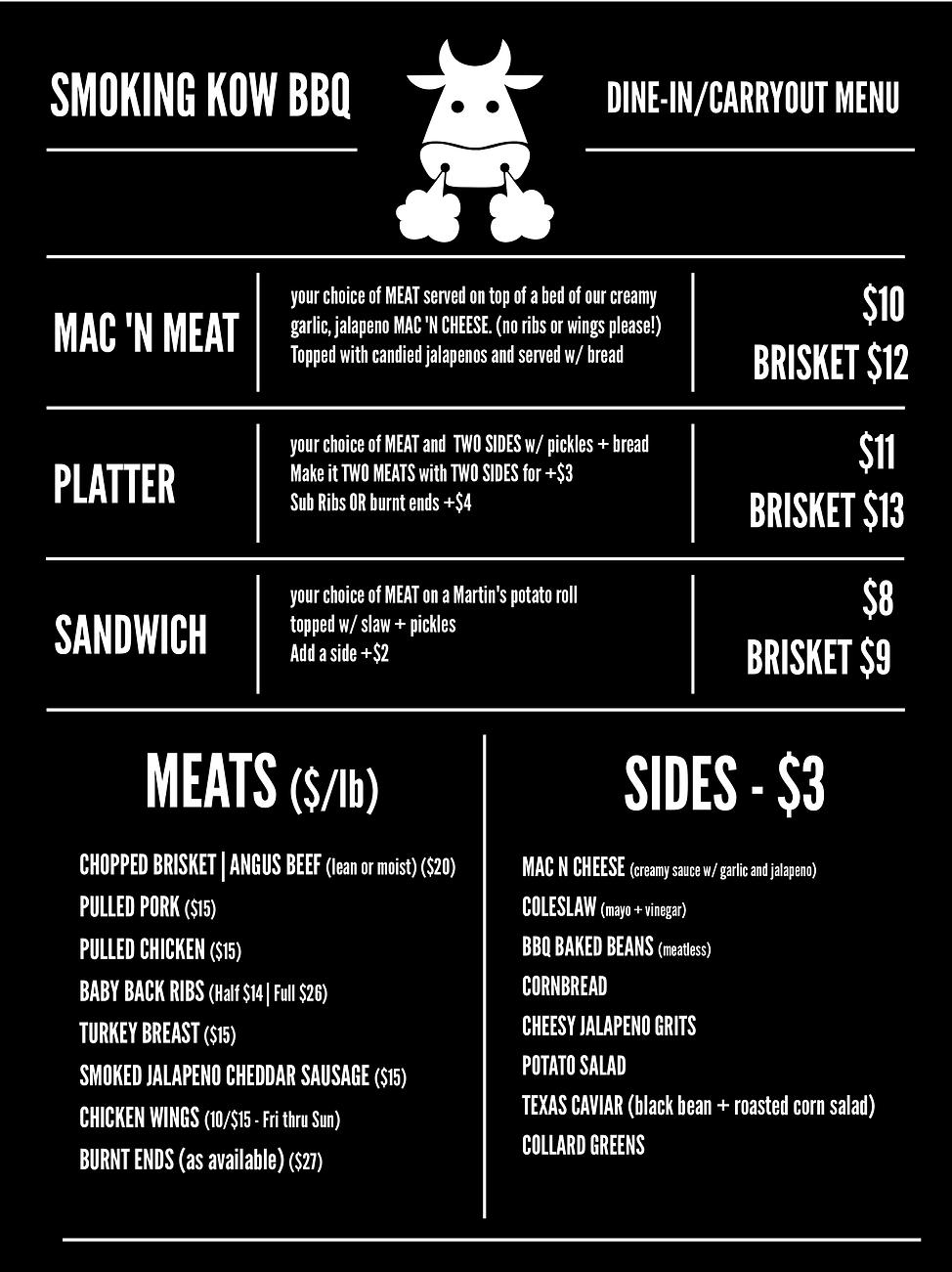 restaurant menu - LEFT 1-13-20 SYCAMORE.