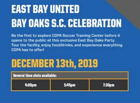 COPA Soccer Training- Dec 13th