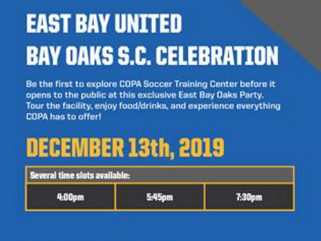 COPA Soccer Training- Dec 13th