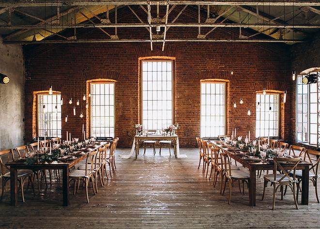 Salão de jantar rústico