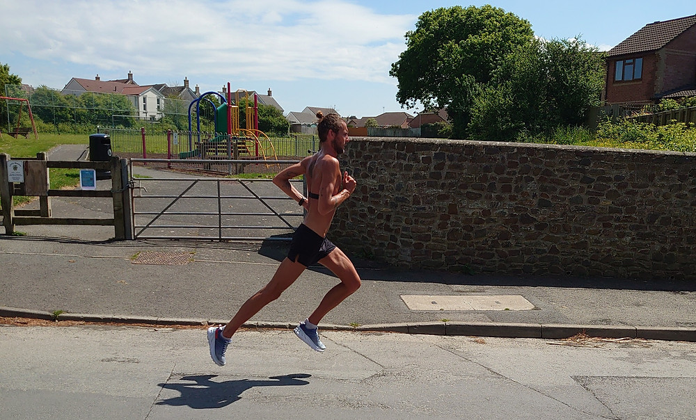 Sports masseuse Dan Mapp out for a run in Northam