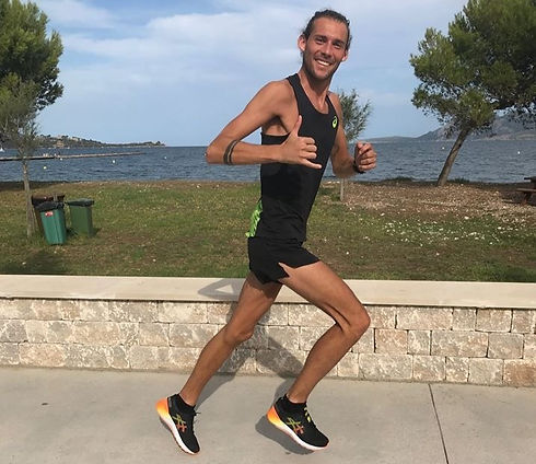 Dan Mapp, sports massage therapist based in Bideford, out for a run in Majorca