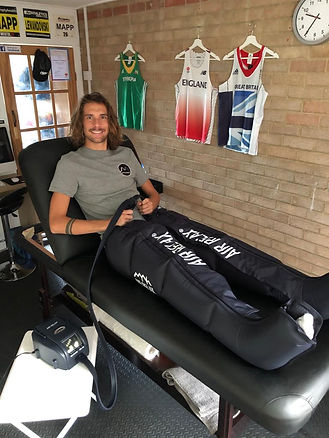 Dan Mapp in air relax recovery boots