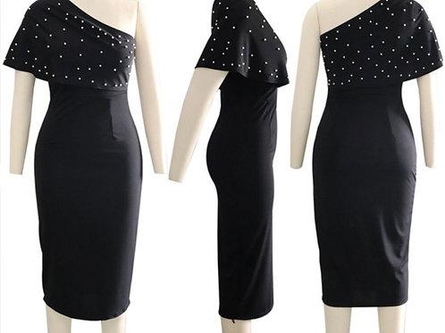 Chic fantasy one shoulder dress