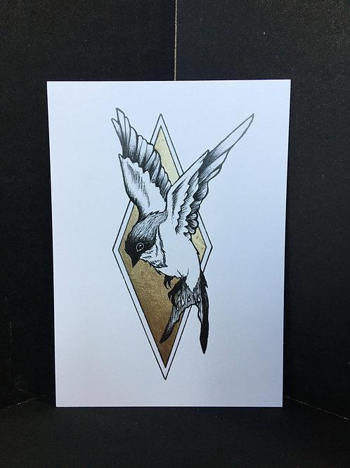 """""""Sparrow"""" 5X7 Art Print"""