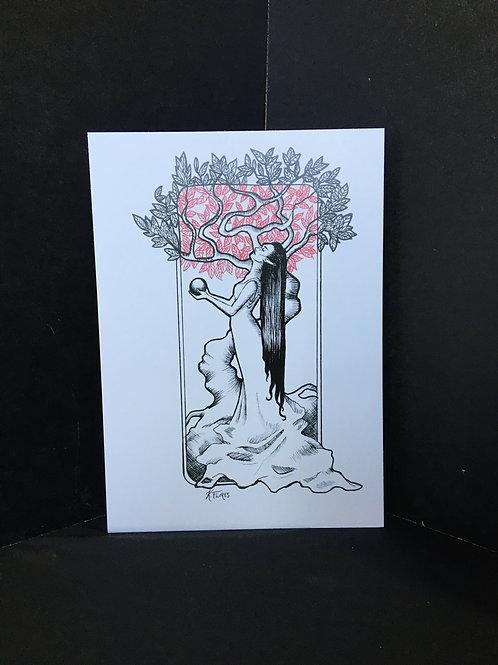 """Under The Elven Tree"" 5x7 Art Print"