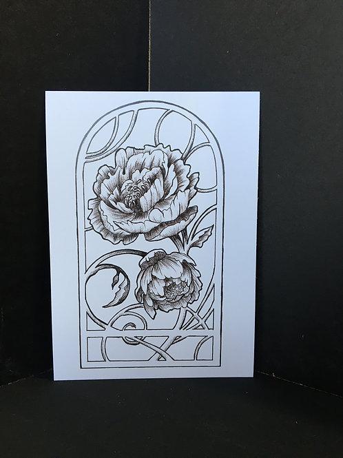 """Peonies"" 5X7 Art Print"