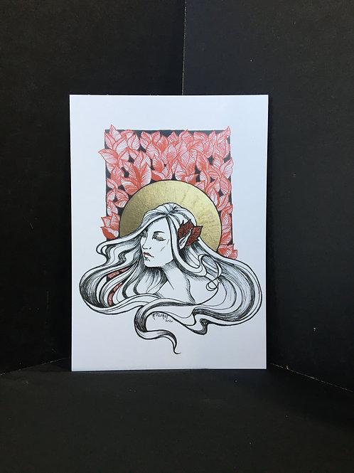 """""""Nouveau Woman"""" 5x7 Art Print"""