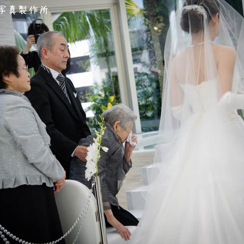 結婚式写真入場シーン