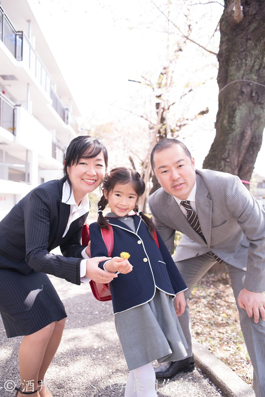 桜・入学式。ファミリーフォト2