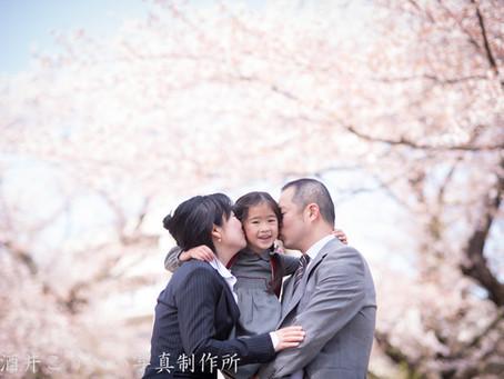 桜・入学式・ファミリーフォト