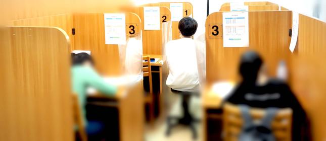 定期テスト対策勉強会の様子