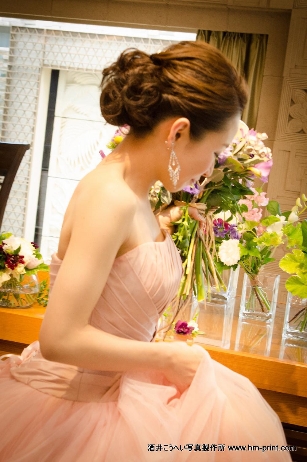 ブライダル花嫁様色ドレス