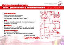 Primer seminario internacional sobre paisaje, agro-combustibles y soberanía alimentaria