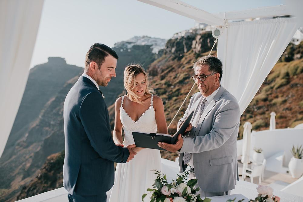 Legal Civil Wedding on Santorini