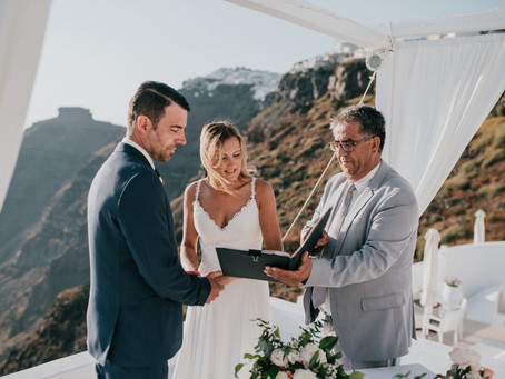 LEGAL WEDDING ON SANTORINI