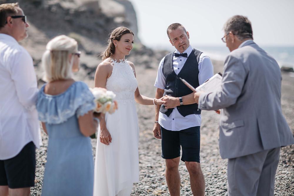 Legal Civil Wedding on Santorini - Beach Wedding