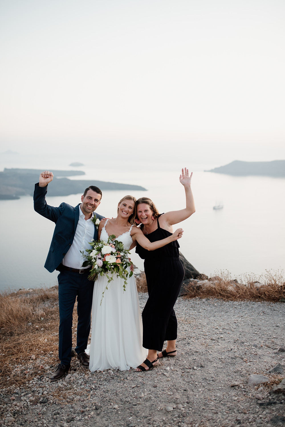 Destination Wedding Planner with Bridal Couple