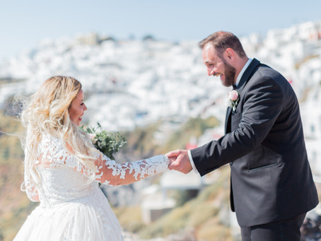 """WHY A """"FIRST LOOK"""" AT YOUR SANTORINI WEDDING?"""