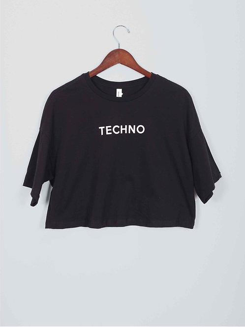FM Crop Tee - techno