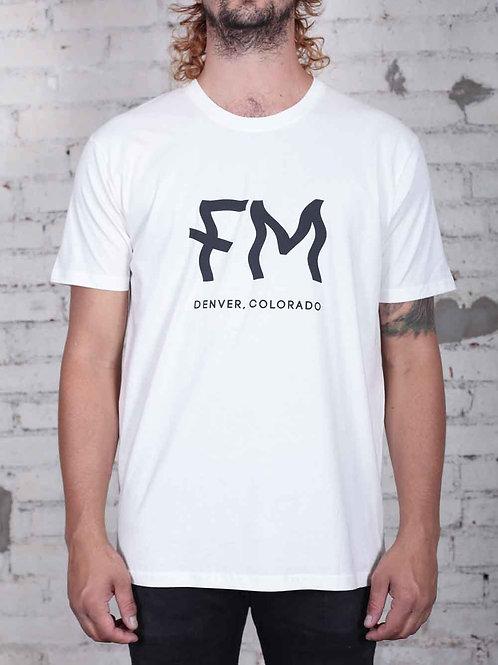 FM Logo Crew Tee - vintage white
