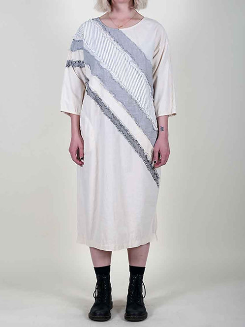 Prairie Underground Hand Drawn Dress - white