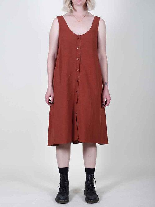 Eve Gravel Nympha Dress -mahogany