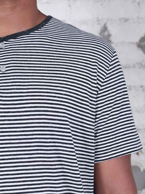 Alternative Throwback Henley - stripe
