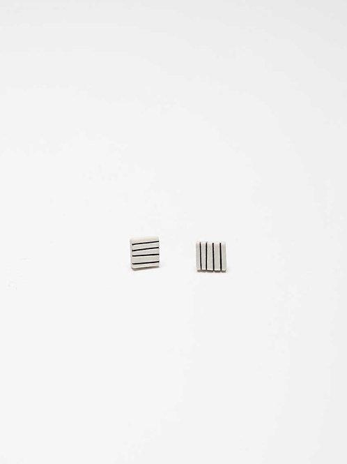 Jenna Vanden Brink - Square pinstripe Stud Earrings