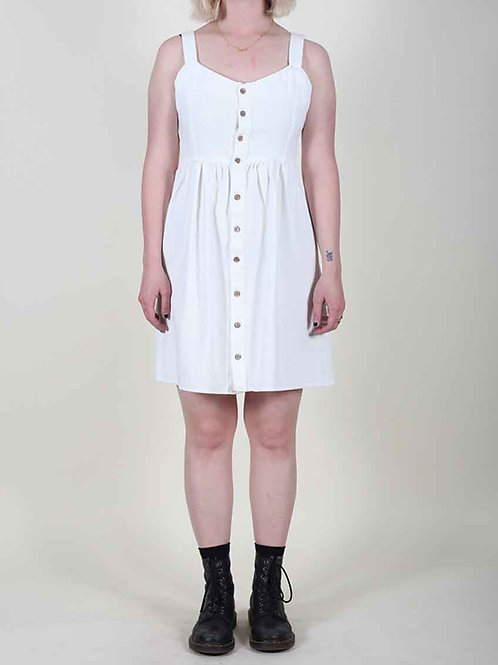 Wild Pony Denim Dress - white