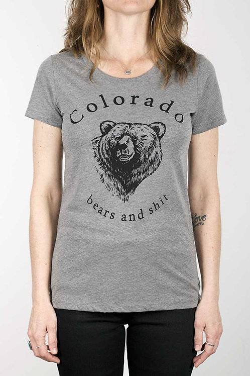 Colofkngrado tee - Bears & Shit (womens fit) - grey