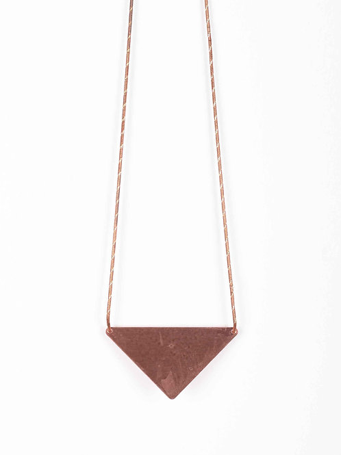 Peter & June Triangle necklace - copper