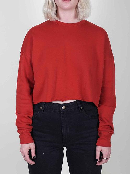 Raglan Pullover Raw Edge - orange