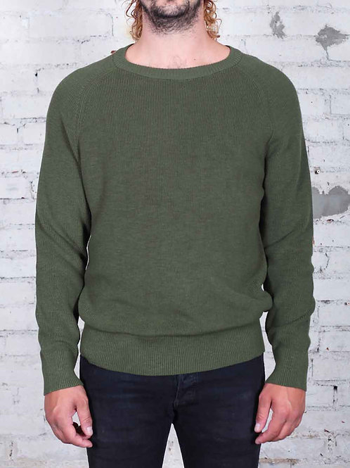NEUW Linen Crew Sweater - army