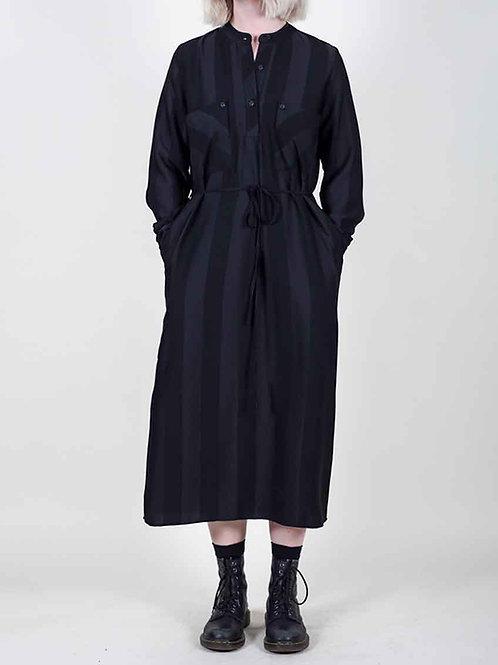Grade & Gather LS Shirt Dress - black