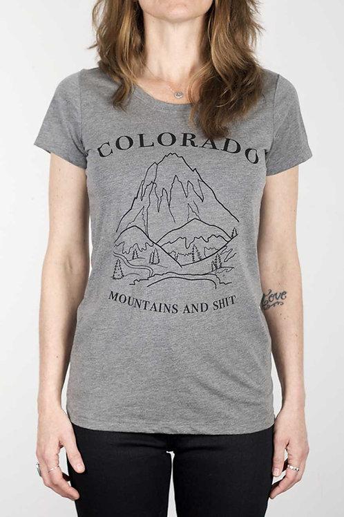 Colofkngrado tee - Mountains & Shit (womens fit) - grey