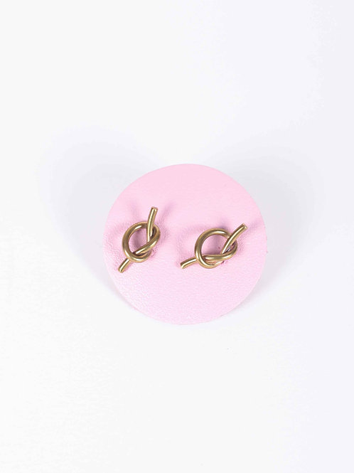 Peter & June Knot Studs - brass