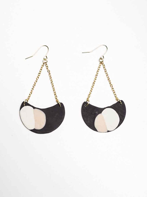 Like Wildflower Demi Earrings - charcoal
