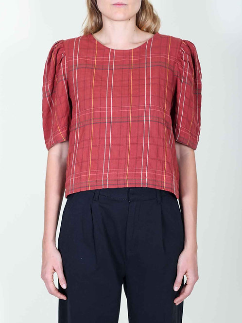 Eve Gravel Labyrinth Blouse - Rust