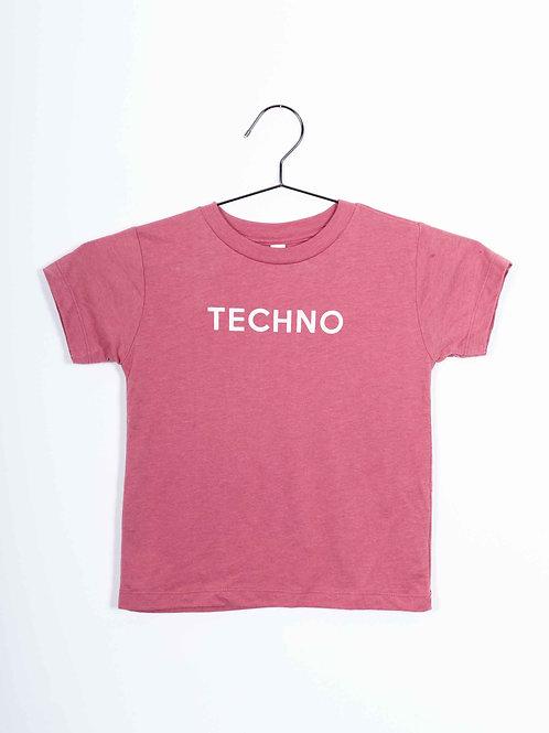 FM Kids Techno Tee - mauve