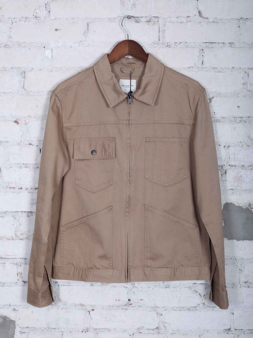 Selected Zip Jacket - brown