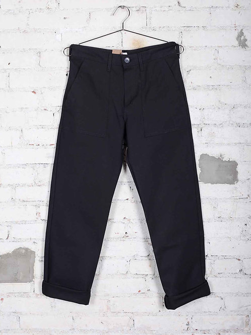 Naked & Famous Work Pant - black canvas