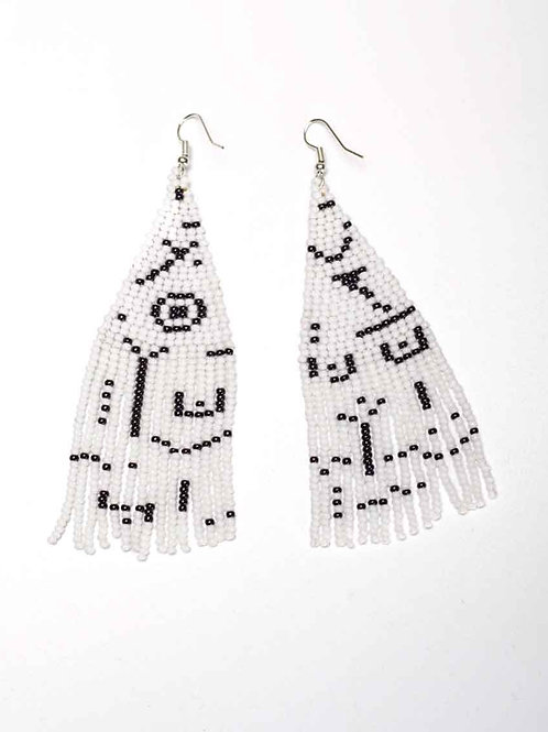 Nativo Beaded Earrings - Picasso