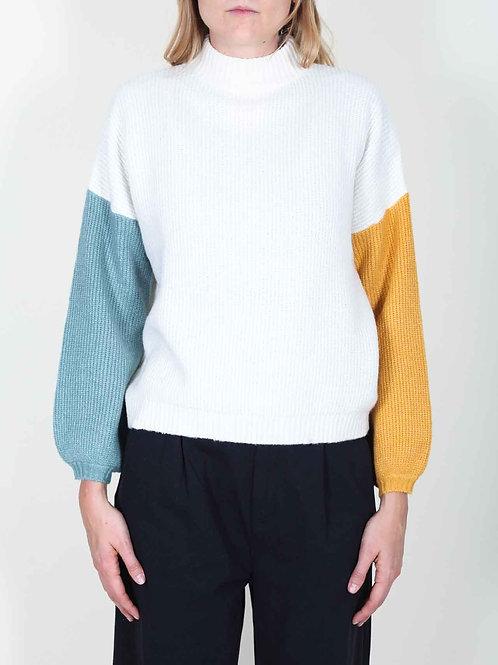 Brixton Burning Up Sweater - off white