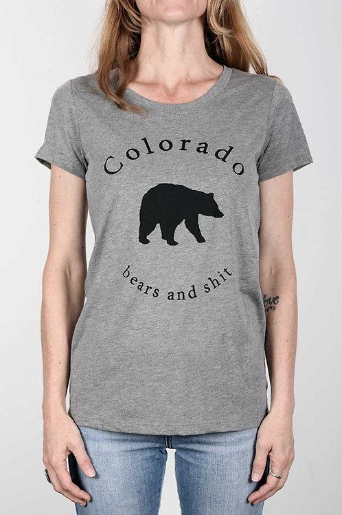 Colofkngrado tee - Bears & Shit 2.0 (womens fit) - grey