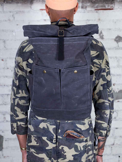 Winter Session Roll Top Backpack - grey